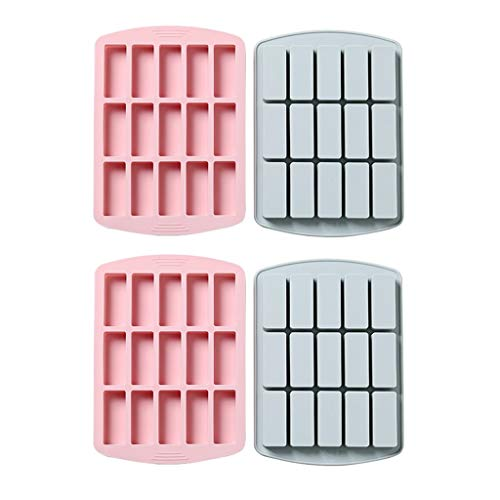 12 Cavity Medium Beperk Silicone rechthoek Vormen/Vormen/Protein Bars Mold/For Caramel Brood Muffin Brownie Cornbread Cheesecake Pudding Soap botervorm (Color : 4PCS)