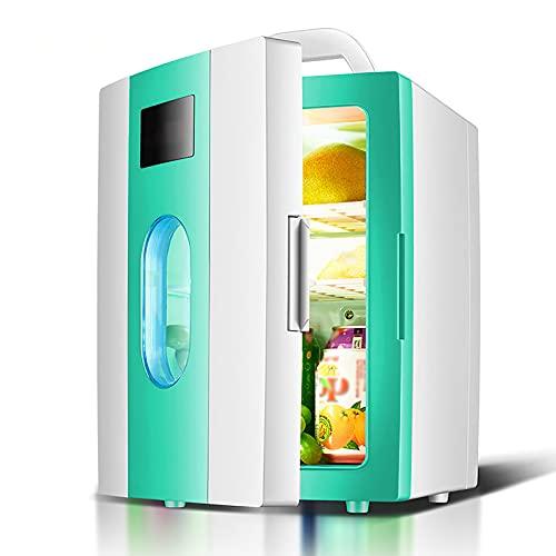 Mini Nevera 10L Frigorífico Portátil para Coche Casa Dormitorio Oficina Apartamento Viajes Mini Bar Silencioso Neveras Pequeño Congelador Una Puerta