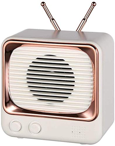 Altavoz inalámbrico Bluetooth nuevo retro creativo lindo portátil TV mini altavoz Bluetooth blanco