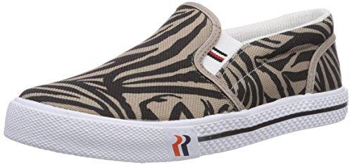 ROMIKA Laser Zebra, Chaussures Bateau Femme - Noir - Schwarz (Schwarz-Taupe 147), 36 EU