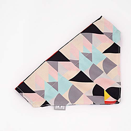 N/D Dog Bib Saliva Towel, Pet Cat Scarf Triangle Scarf Bib Jewelry, Cute Geometric Printing Scarf,Selected Materials, Strong And Durable