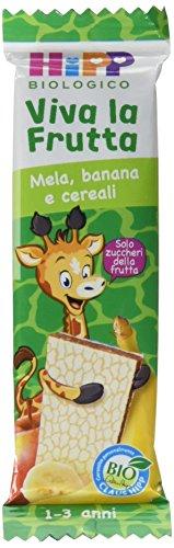 Hipp Barrette Viva la Frutta Mela Banana e Cereali - 22 barrette da 23 g