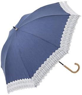 [ アフタヌーンティー リビング ] AfternoonTea LIVING 長傘 GM01 シャンブレー レース 付き 晴雨兼用 長傘 日傘