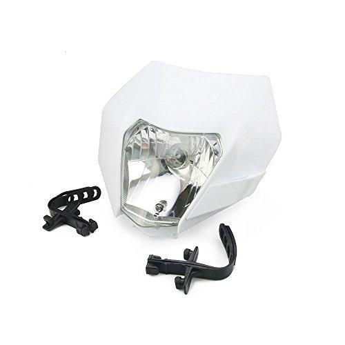Universelle Phare Phare Lumière Fairing Street Fighter Masque Jour Courant Lumière Pour Honda Yamaha Suzuki Kawasaki K.T.M. Blanc