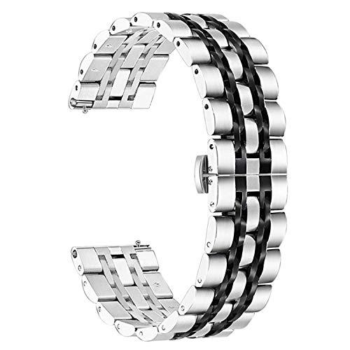 Diruite für Samsung Galaxy Watch 46mm / Gear S3 Armband Uhrenarmband,22mm Galvanisieren Edelstahl Metall Mit Doppelt Faltschließe Ersatzarmbänder - Sekundäre Farbe