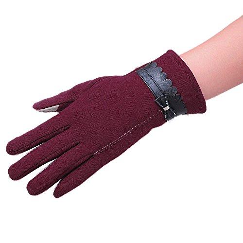 OSYARD Damen Fäustlinge Handschuhe Smartphone Touch Screen Winterhandschuhe Strickhandschuhe Armwärmer, Frauen Hand-stulpen Bowknot Winter Warme Gestrickte Handschuhe Elegante Mode Fäustlinge