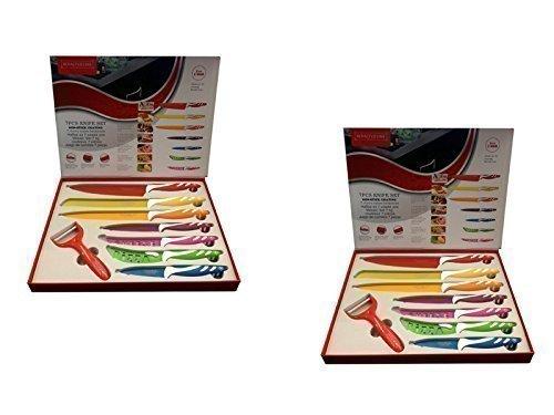 N ° 2Packungen set messer Keramik Royalty Line Switzerland 8Stück