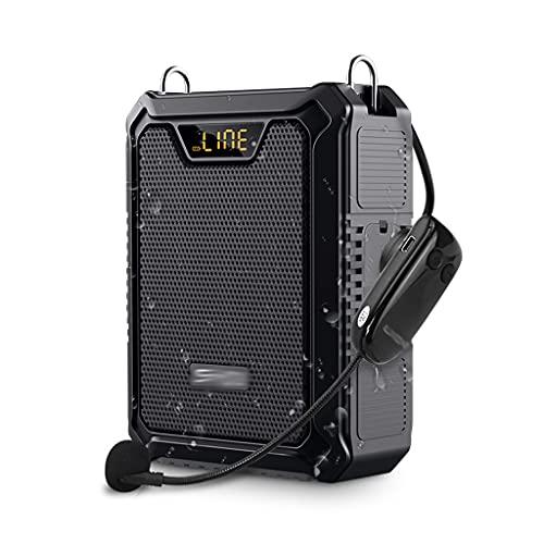 FZJDX Amplificador portátil Amplificador de voz impermeable Altavoz Bluetooth Power Bank Firsámide altavoz inalámbrico