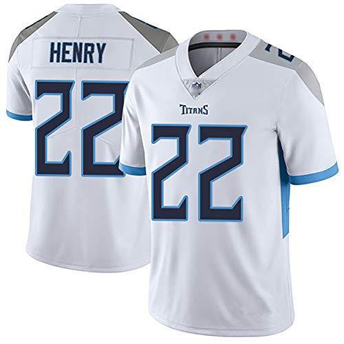 PION Camiseta de Rugby de Hombre, Camiseta de Jersey Henry Rugby de Titans 22, Sudadera Suave cómoda y Transpirable, Ropa de Entrenamiento de competición-White-M
