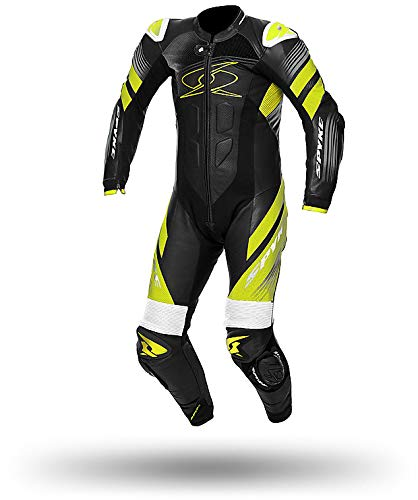 Spyke - Mono de moto de cuerpo entero, color negro/amarillo, talla IT 54