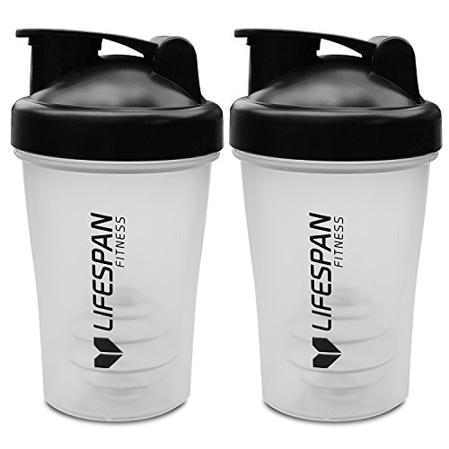Lifespan Fitness 2X Protein Shaker Drink Bottle