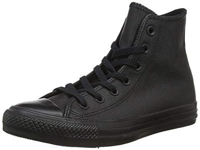 Converse Hi Top Leather Black Mono 5