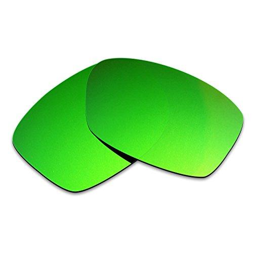 HKUCO Mens Replacement Lenses For Oakley Jupiter Squared Sunglasses Emerald Green Polarized