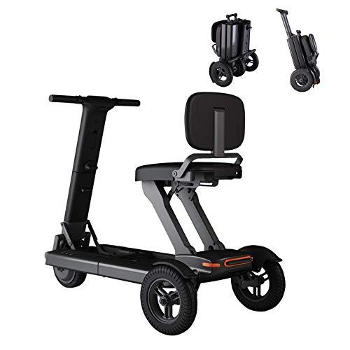 N/Z Life Equipment Patinete de Movilidad de 3 Ruedas: Patinete eléctrico Plegable Ligero y portátil para Adultos Dispositivo de Silla de Ruedas móvil eléctrico para Personas Mayores