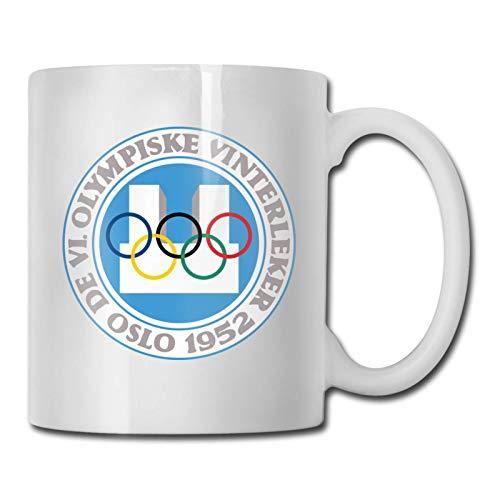 Oslo 1952, Vi Juegos Olímpicos de Invierno Cerámica Café Té Cerveza Taza Cug