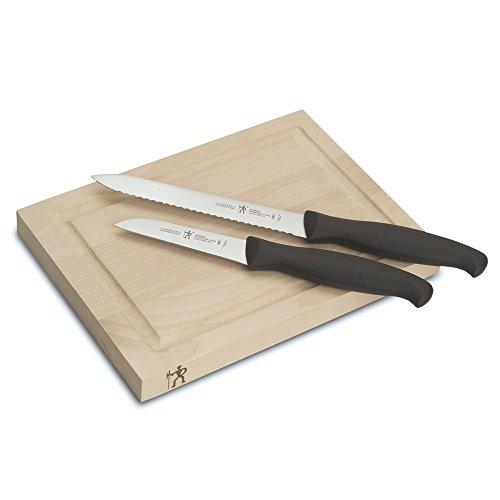 HENCKELS J.A International Accessories Bar Knife & Board Set, 3-piece, Black/Stainless Steel