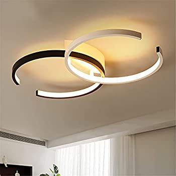 YGJKLIS 110v LED Bedroom Ceiling Light 40w Lighting Fixture dimmable Remote Control Indoor Ceiling Light for Guest Room Dining Room Balcony Easy Installation  5532cm