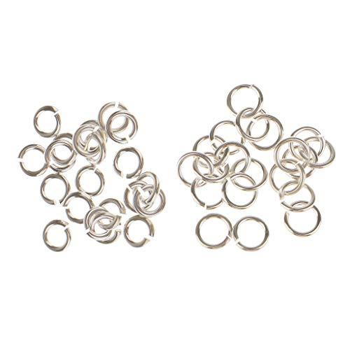 yotijar 40x S925 Key Rings, Jump Rings, Split Rings, Spring Rings, Rings for