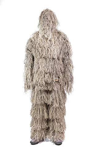MILITARY Ghillie Yowie Suit 4 Pcs. Airsoft Shooting Digital Desert Camouflage (disfraz)