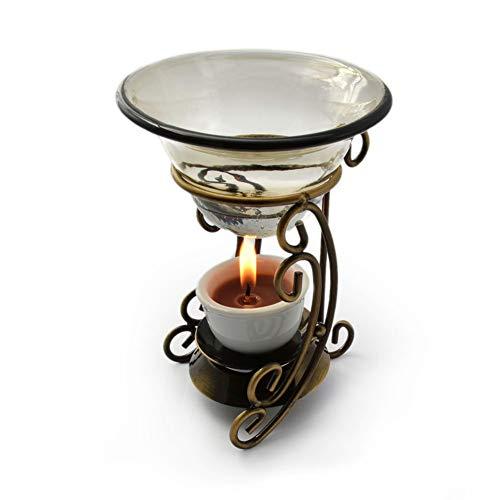 TentHome Aroma Duftlampen Aromatherapie Öllampen Aromalampen Aromabrenner Ölbrenner Metall Aromaofen für ätherische Öle, Teelichthalter Ohne Teelicht (3 Beine)