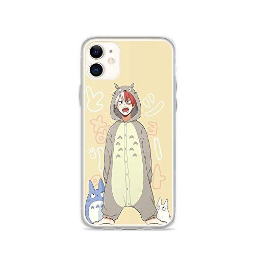 Roadiress My Hero Academia Shoto Totoro Pijama Japanese Anime Compatible con iPhone 12/12Pro MAX 12 Mini 11 Pro MAX XR XS/XsMax SE 2020 7 8 6/6s Plus Samsung Series Funda Protectora