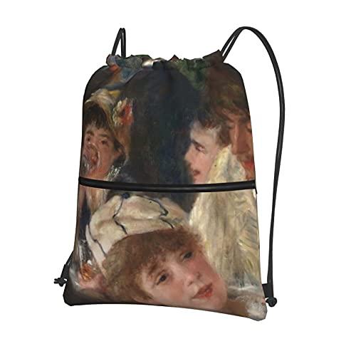 Almuerzo de la fiesta de embarcación personalizada con cordón bolsa de polietileno con bolsillo con cremallera para natación, fútbol, gimnasio, escuela, para niños y niñas