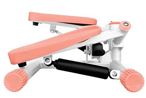 SISHUINIANHUA Mini Stepper mit elektronischen Monitor-Tracks Schritte Zeit und Kalorienverbrauch hydraulischen Widerstand Doppel Hydraulische Bar orange