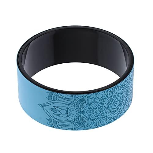 Les-Theresa Yoga Rueda Trasera Rodillo Azul Estiramiento Backbends Herramienta de Entrenamiento de Entrenamiento de Rodillo para aliviar el Dolor de Espalda