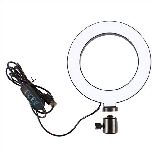 LIPETLI Led Ring Light With Stand & Phone Holder, Selfie Light With 3 Modes Color Temperature, Circle Light kit for Video Makeup, Live Streaming, Videoconference