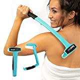 Bearback Lotion Applicator for Back & Body. Premium Quality Long Handled Folding Lotion Roller. American Owned Small Business (Teal)