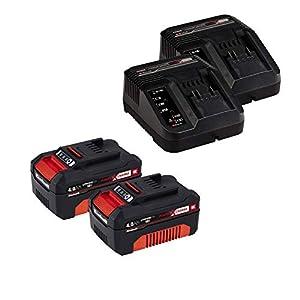 Einhell GE-CM 43 Akku-Rasenmäher Li M Kit Power X-Change (Li-Ion, 36 V, bis 600 m², 43 cm Schnittbreite, 6x Höhenverstellung, inkl. 2 x 4,0 Ah-Akku und 2 x Ladegerät)