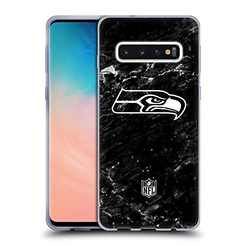 Head Case Designs Offizielle NFL Marmor 2017/18 Seattle Seahawks Soft Gel Handyhülle Hülle Huelle kompatibel mit Samsung Galaxy S10