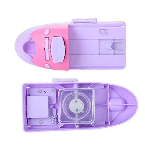 1PC Nail Art Printer Nail Stamping Machine Professional Nail DIY Pattern Applicator Portable Nail Art Stamper Tools With 6 Random Shaped Printed Templates(Purple)