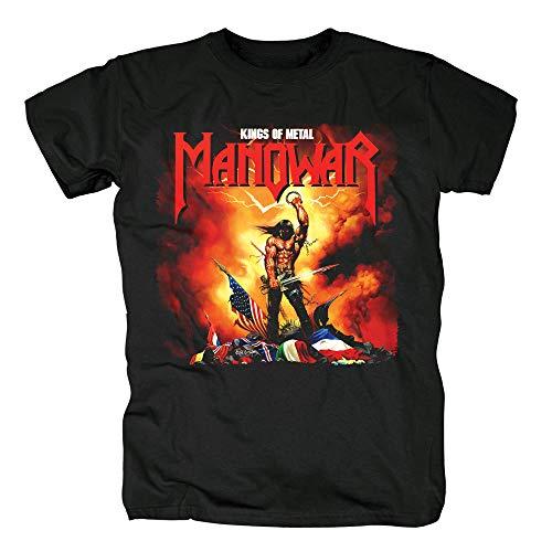 Bloodhoof Manowar Heavy Metal Power Metal Men's Black T-Shirt in Summer Asian Size