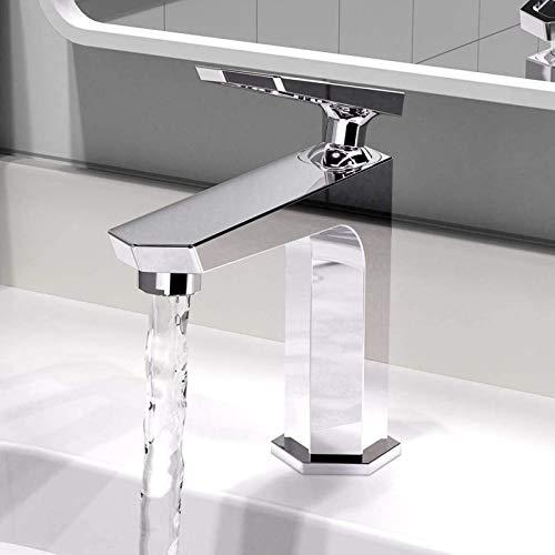 Fashio Grifos de Agua Grifo de baño Mezclador de Lavabo Mezclador de una Sola Palanca Grifo de Lavabo Mezclador Grifo de baño for baño - Cobre Cromado