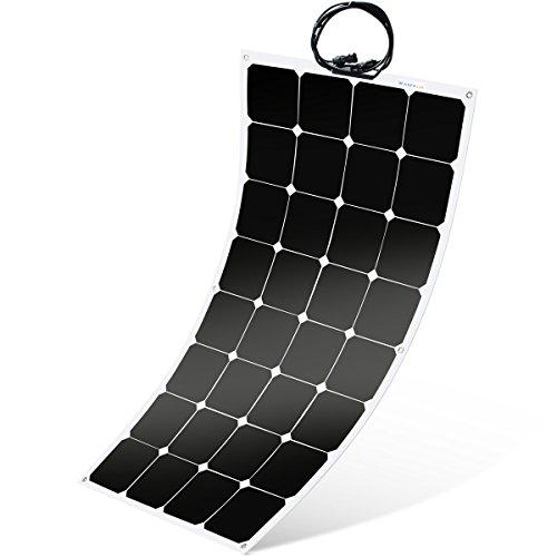 Winnewsun Flexible Solar Panel,SunPower Solar Panel 100w 18V 12V,Lightweight Flexible Solar Power Panels