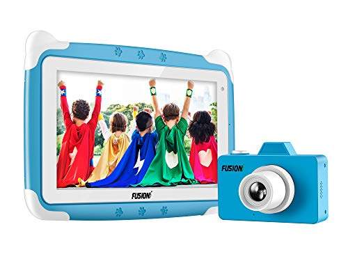 Fusion5 Kids Tablet PC Combo Deal - Designed for Kids - Learn, study, fun, parental controls (Blue)