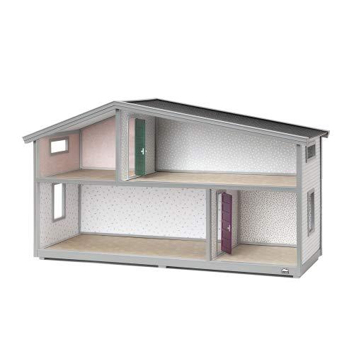 Lundby 60-102100 - Puppenhaus Life - Bausatz - DIY - Puppenstube - Puppenvilla - 2-stöckig - 4 Zimmer - 75x26x39 cm - Miniaturhaus - Klassiker Schweden - ab 4 Jahre - 11 cm Puppen - Minipuppen 1:18