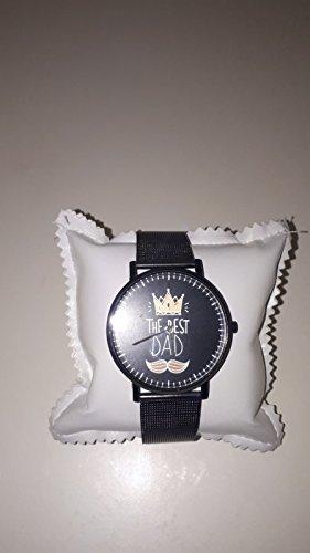 love print Relojes de pulsera idea regalo Día del Padre The Best Dad (negro)