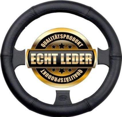 Lenkradbezug, Lenkradhülle Echtes Leder schwarz Ø 37 - 39 Neu