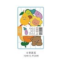 20ピース/パック素敵な漫画の装飾ステッカースクラップブッキングスティックラベル日記アルバムステッカーかわいい韓国の文房具子供ステッカー