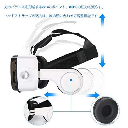 『Virtoba X5 VR BOX 3Dメガネ 3Dグラス VRゴーグル スマホゴーグル 焦点距離調節(ヘッドセット実装)』の6枚目の画像