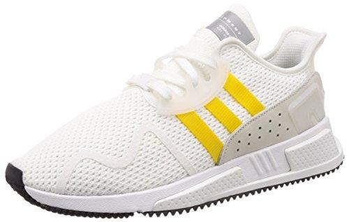 adidas Originals EQT Equipment Cushion ADV, Footwear White-EQT Yellow-Silver Metallic, 11