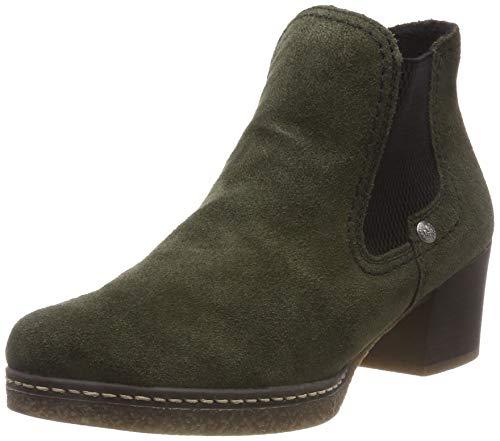 Rieker Damen 59090 Chelsea Boots, Grün (Olive/Schwarz 54), 40 EU