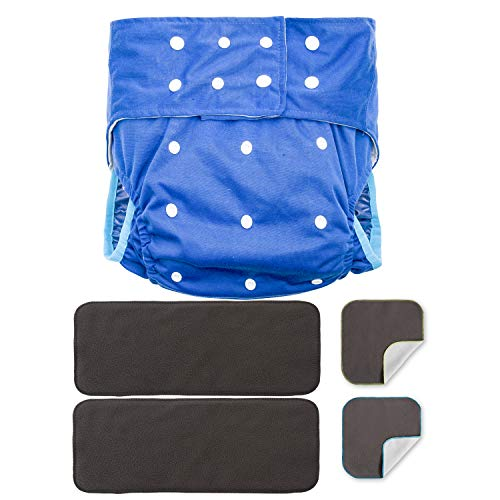 Adult Cloth Diaper Inserts Large Pads Liners Cloth Diaper Inserts For Teen Men Women Incontinence Elder Washable Reusable Absorbent Charcoal Bamboo & Microfleece Booster Pad Care Protective