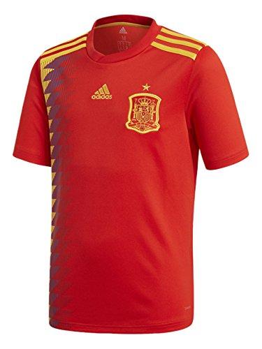adidas Camiseta de la Selección Española de Fútbol para el Mundial 2018, Réplica Oficial, Niños, 1ª Equipación, Talla 140