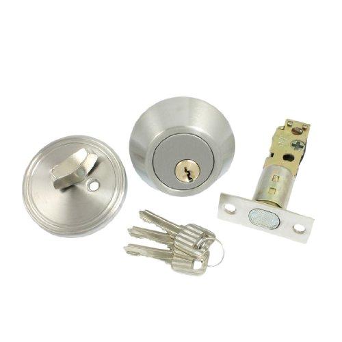 Sourcingmap a12082900ux0253Home Tür Single Zylinder Sicherheit Lock/Riegel–Silber Ton de