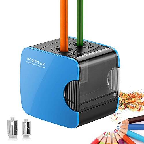 Sacapuntas Eléctricos con Deposito USB y Con Pilas, Heavy Duty Sacapuntas Automáticos,...