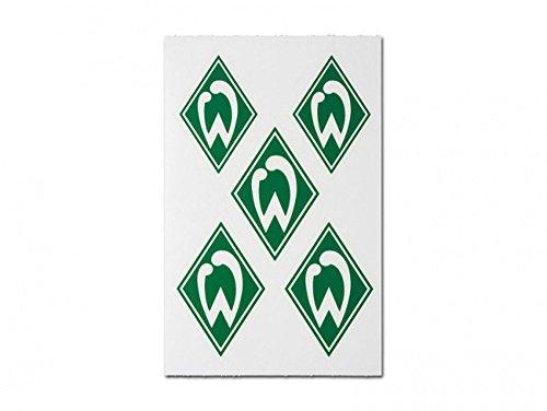 5er Aufkleberkarte je 5,5x4 cm Aufkleber Sticker SV WERDER BREMEN NEU