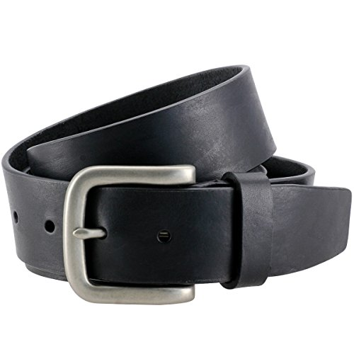 The Art of Belt by LINDENMANN Mens leather belt/Womens leather belt, full grain leather belt, casual unisex, in 2 colors, black/cognac, Größe/Size:95;